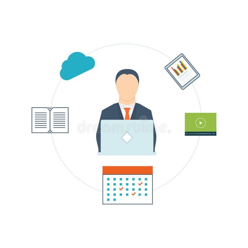 咨询服务的概念,项目管理,市场研究,战略计划 库存例证