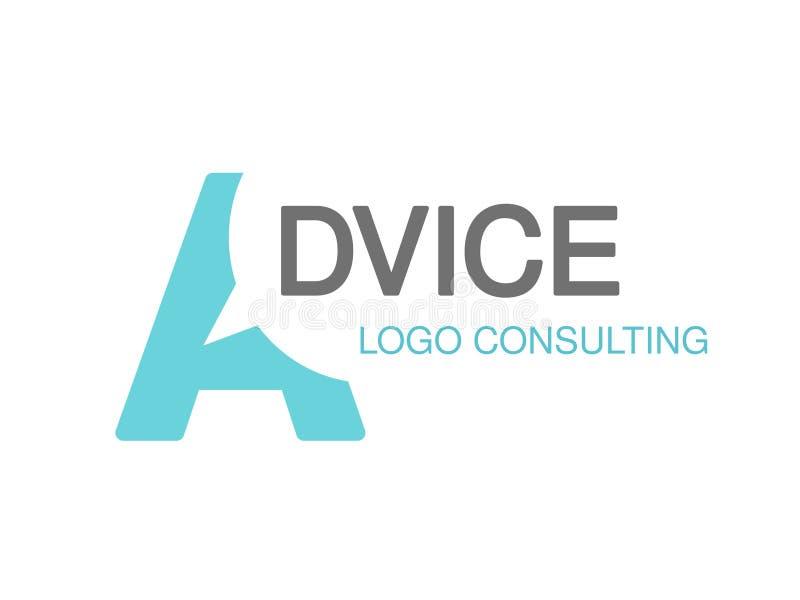 咨询的机构的,忠告品牌 与信件A的标志的商标设计 皇族释放例证