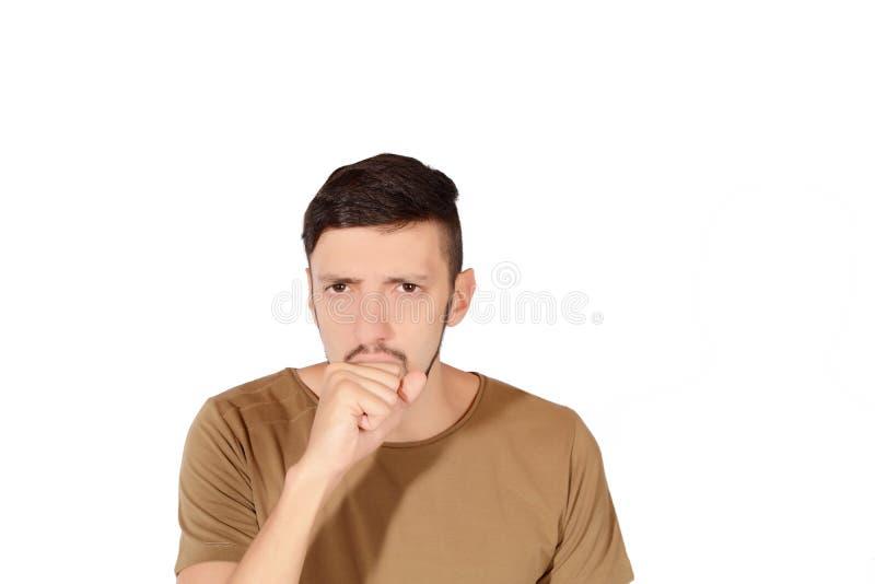 咳嗽人年轻人 免版税库存图片