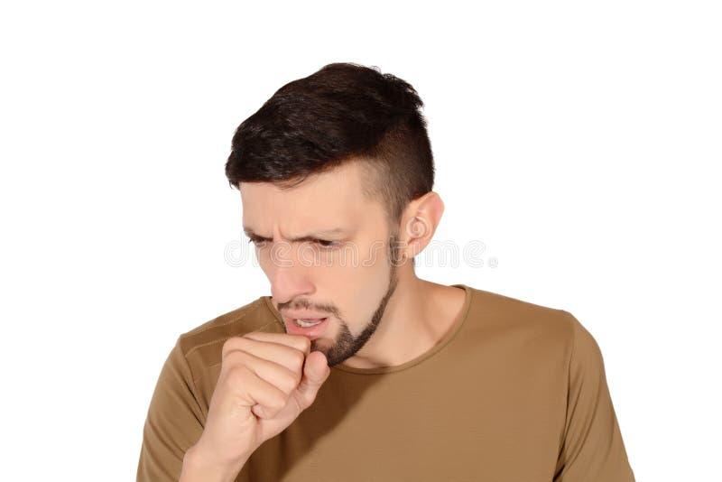 咳嗽人年轻人 库存图片