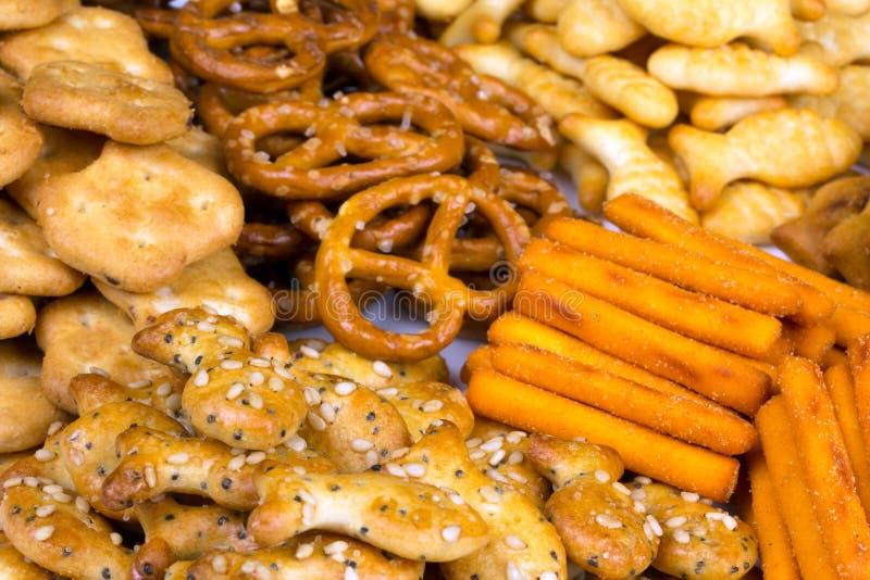 咸快餐的范围 免版税库存图片