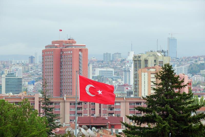 咽喉痛 土耳其的首都 库存图片