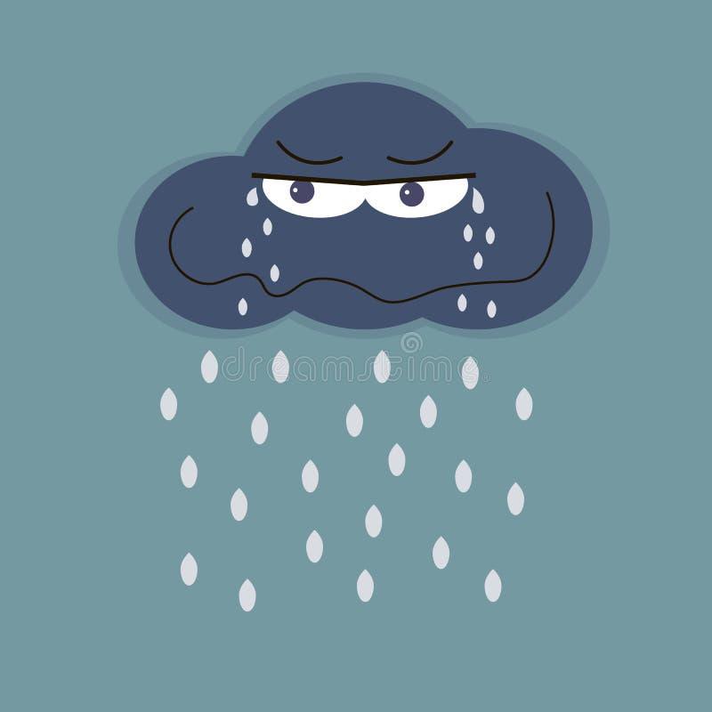 哀伤的云彩和雨 皇族释放例证