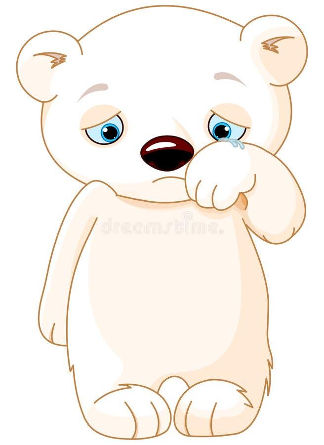 哀伤的北极熊 皇族释放例证