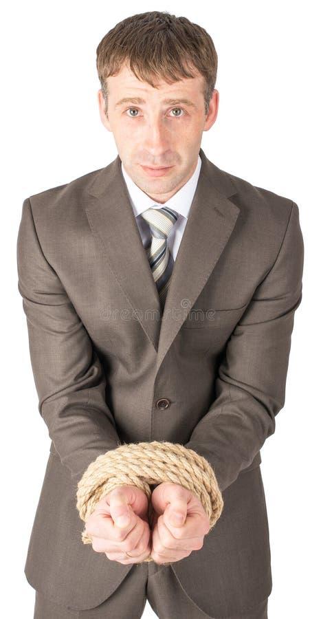 Download 哀伤的商人一定与绳索 库存照片. 图片 包括有 换码, 英俊, 经理, 员工, 次幂, 总公司, 成人, 控制 - 72357686