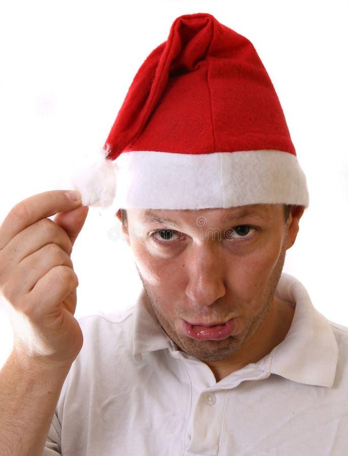 哀伤的圣诞老人 库存图片