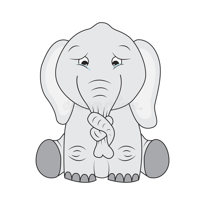 与结的哀伤的大象在其鼻子图片