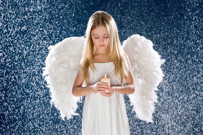 哀伤的天使 免版税库存照片
