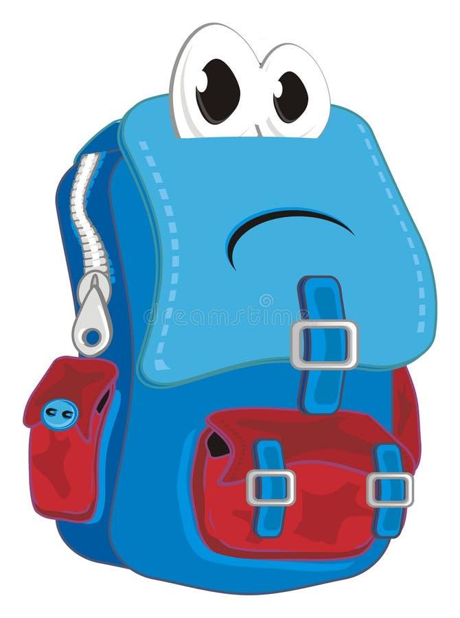 哀伤的学校背包 向量例证