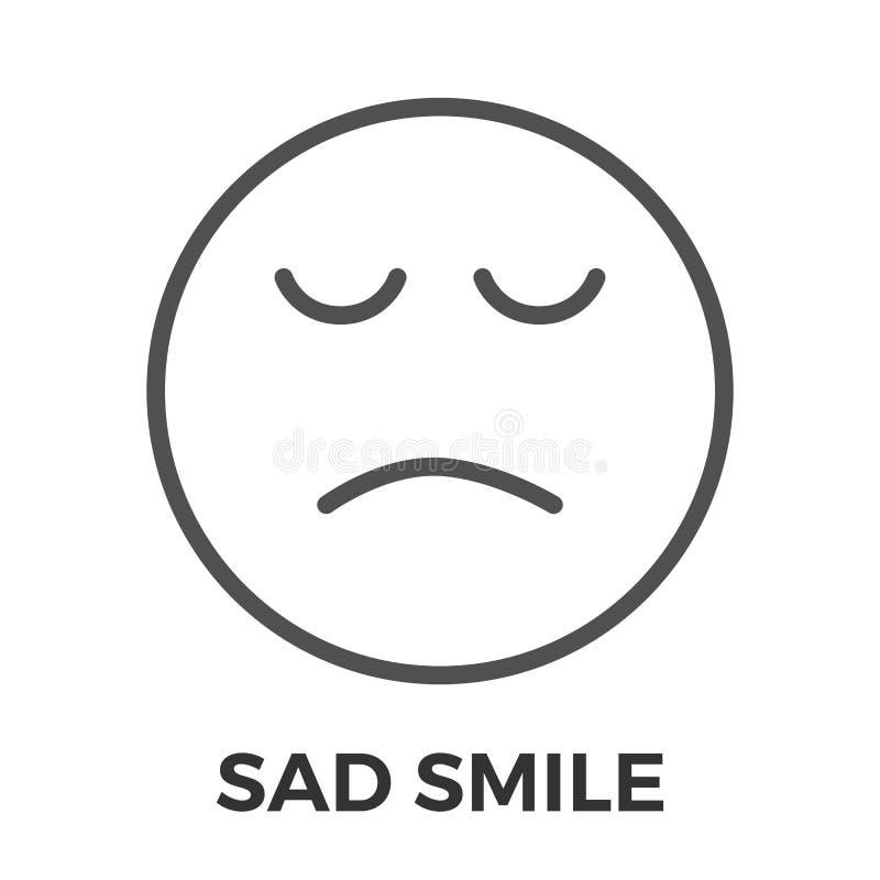 哀伤的微笑稀薄的线传染媒介象图片