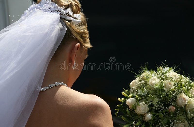 哀伤的新娘 免版税库存照片