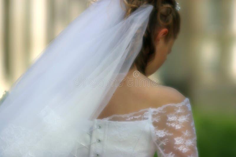 哀伤的新娘 免版税图库摄影