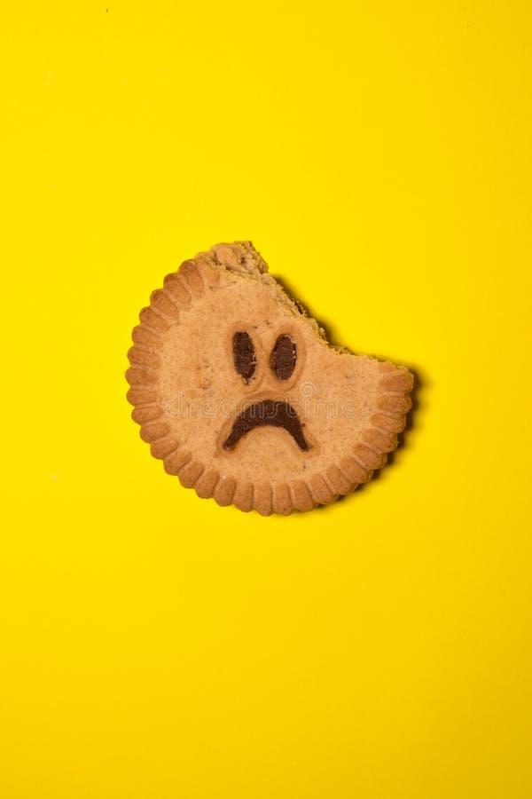 哀伤的曲奇饼 免版税库存照片