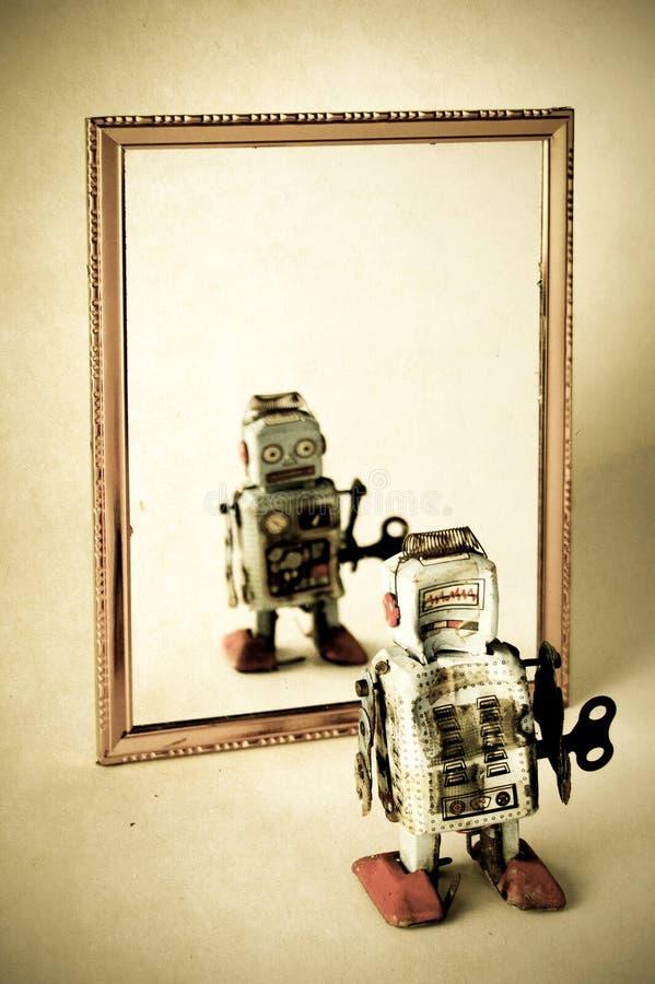 哀伤的机器人 图库摄影