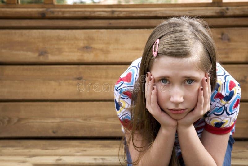 哀伤1个的女孩 库存图片