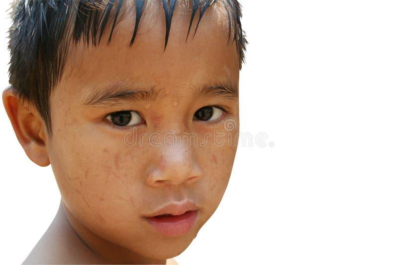 哀伤1个的男孩 免版税库存照片
