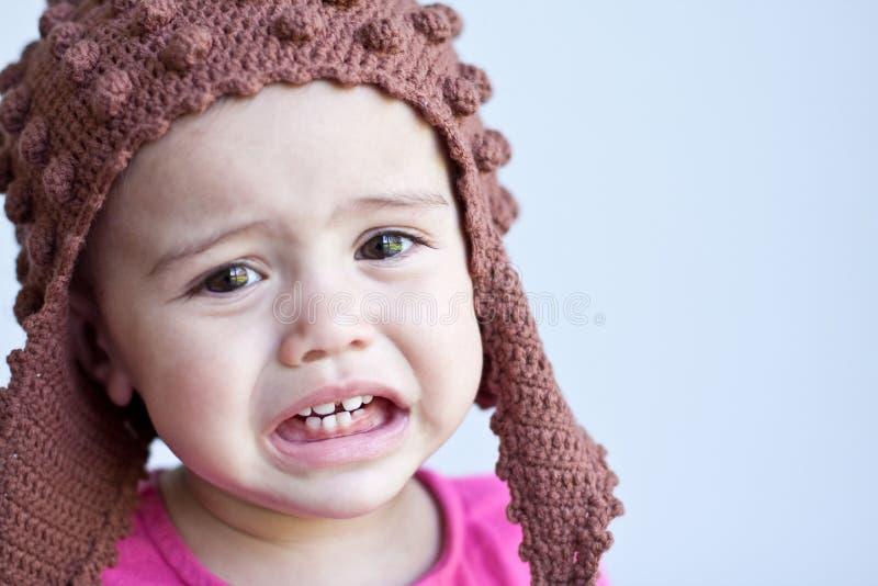 哀伤11个女婴月的纵向 免版税图库摄影