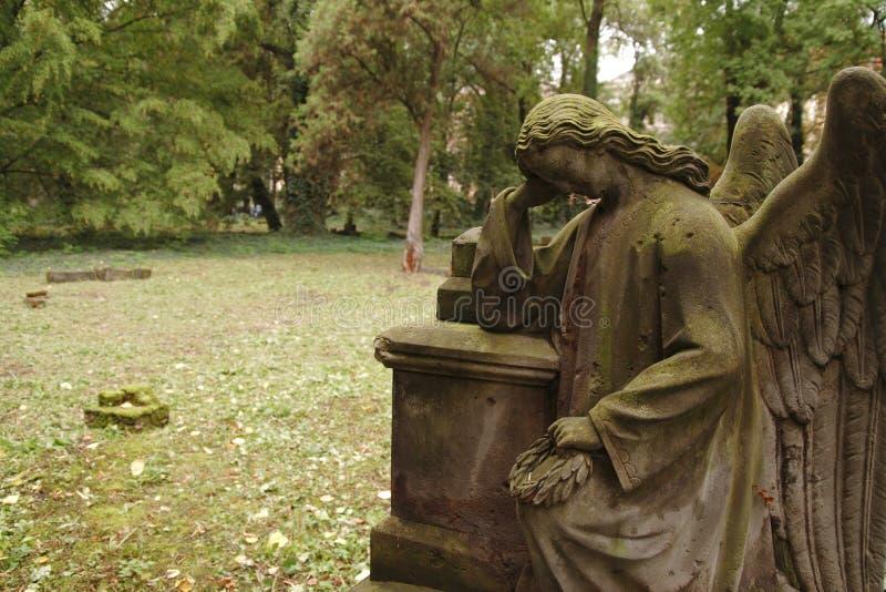 哀悼的天使 库存图片