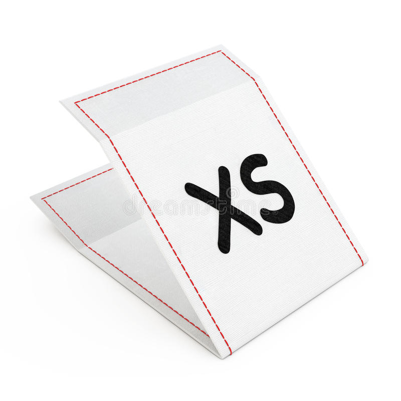 织品与额外小型标志的礼服标记 3d翻译 皇族释放例证