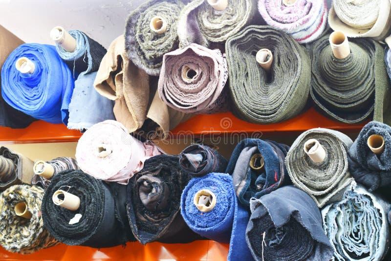 织品五颜六色的螺栓  免版税库存照片