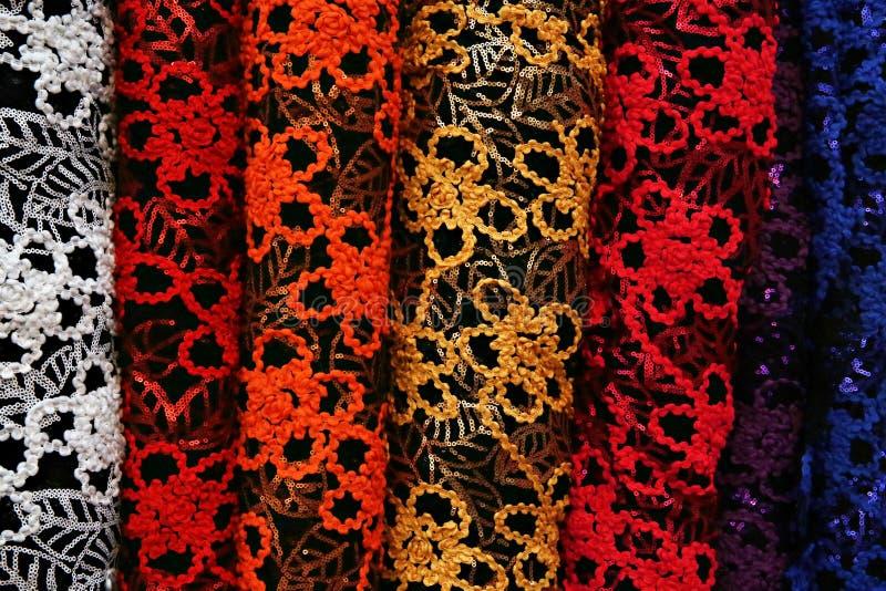 织品各种各样不同的螺栓  免版税库存图片