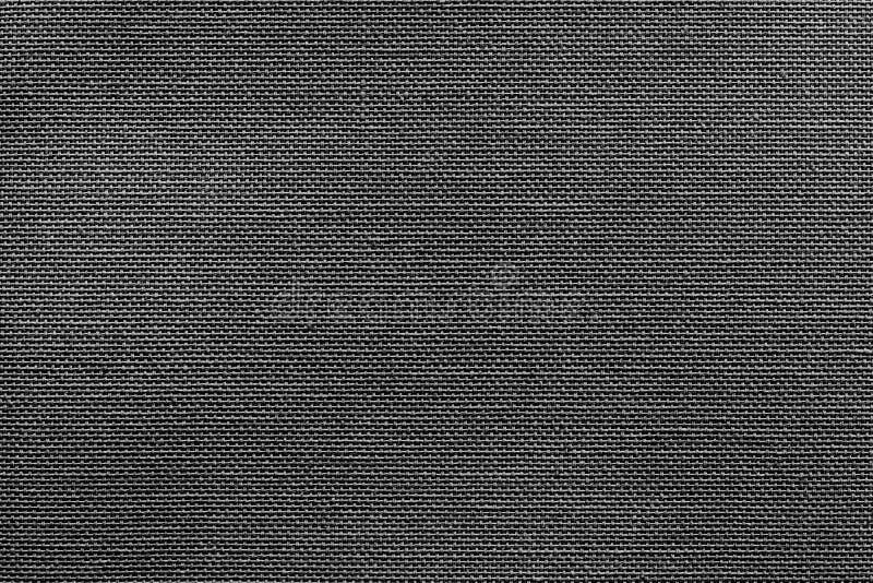 织品或纺织材料明亮的黑纹理  库存照片