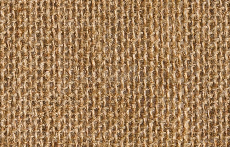 织品无缝的亚麻制袋装的布料纹理背景  免版税库存图片