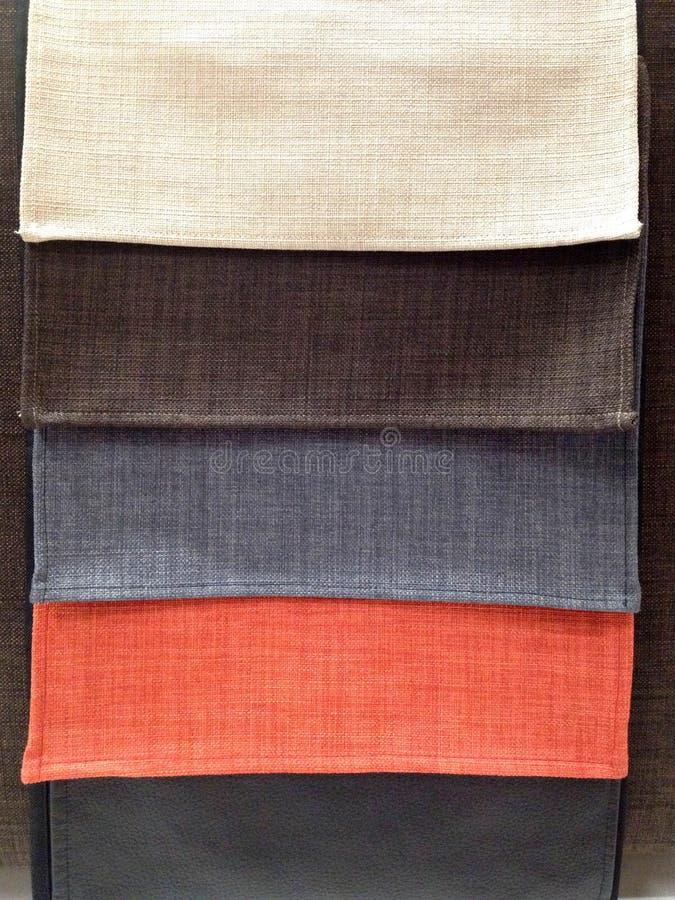 织品样品的多颜色 免版税库存照片