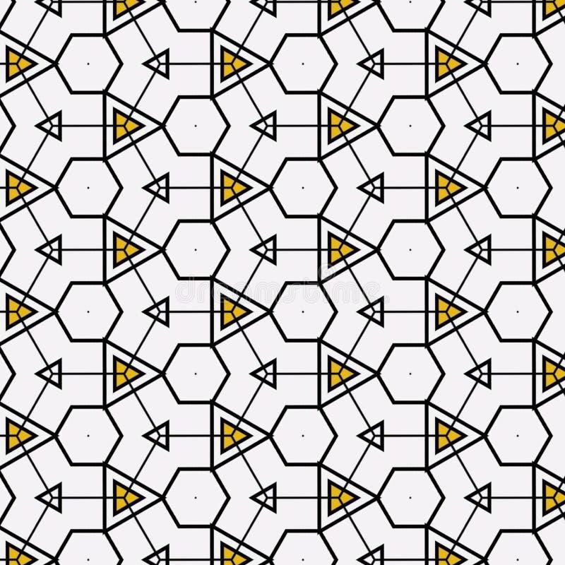 织品样式设计或内部墙纸样式 库存例证