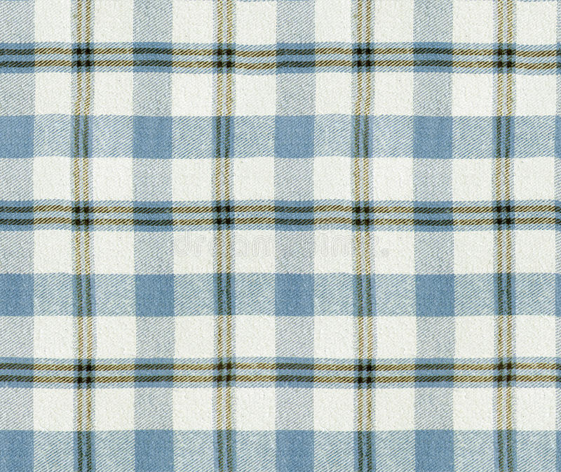 织品格子花呢披肩纹理 格子花呢披肩无缝的样式/方格的桌布背景 免版税库存图片