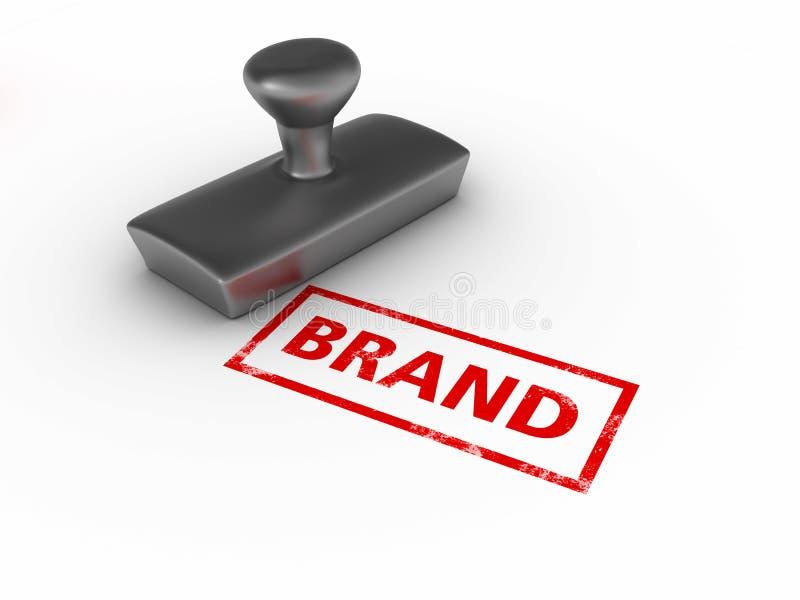 品牌不加考虑表赞同的人 向量例证