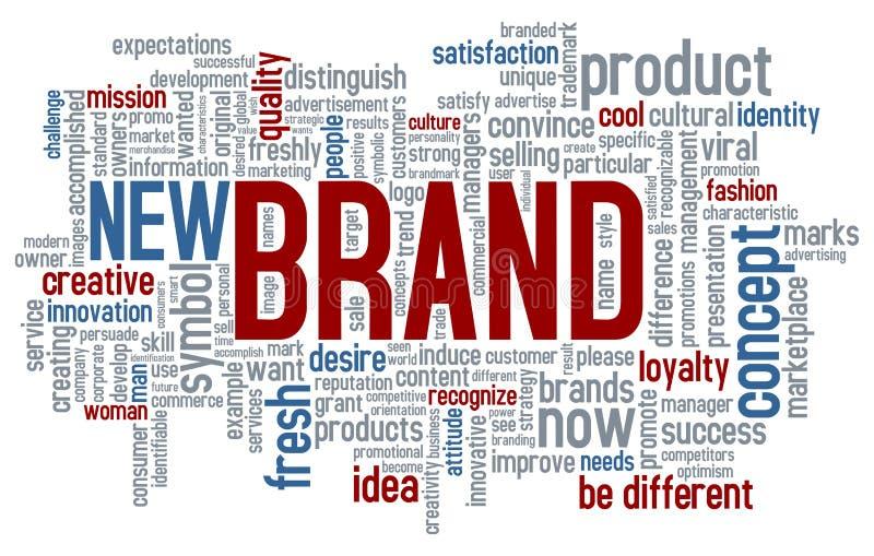 品牌云彩新的字 向量例证