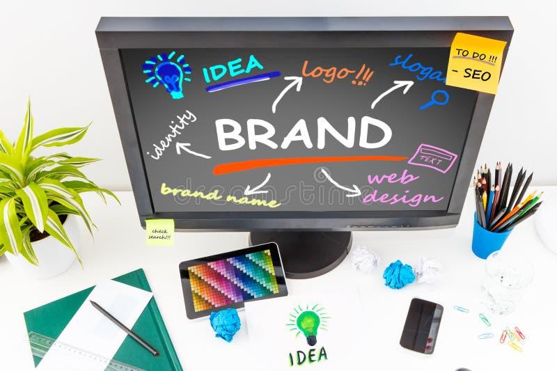 品牌品牌设计营销图画 库存图片