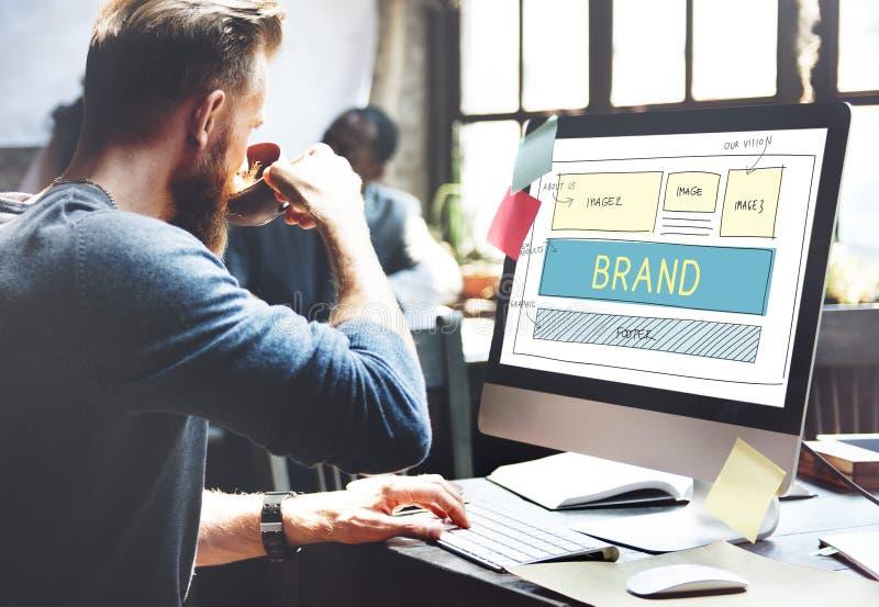 品牌商标营销网站计划UI概念 免版税库存照片