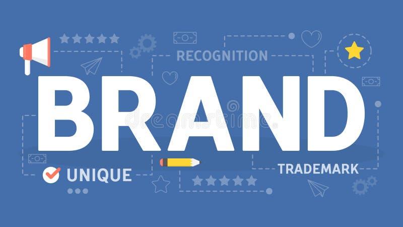 品牌概念 公司的独特的设计 向量例证