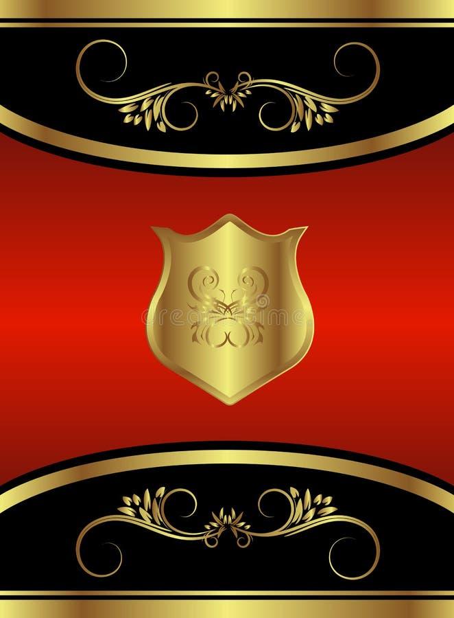 品牌蝴蝶红色皇家 向量例证