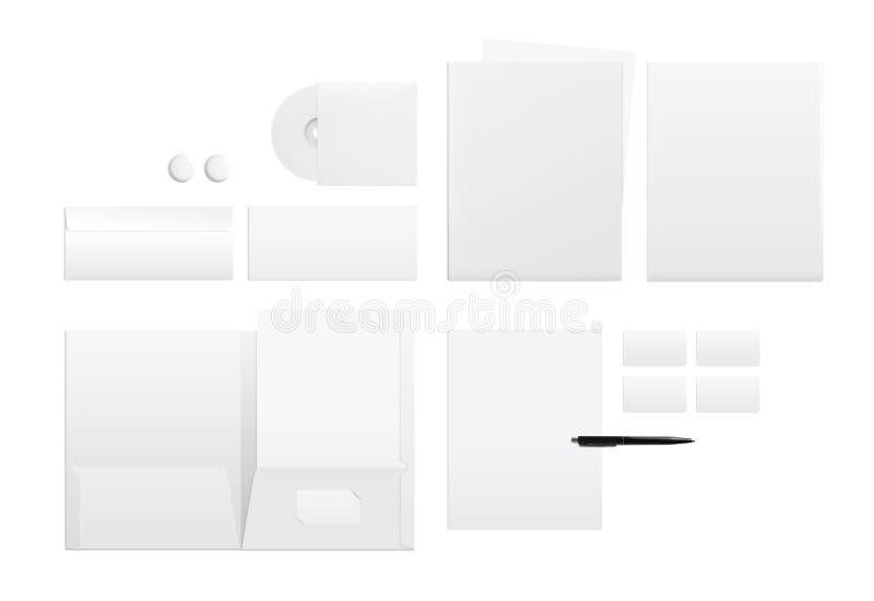 品牌身份的模板在白色 库存照片