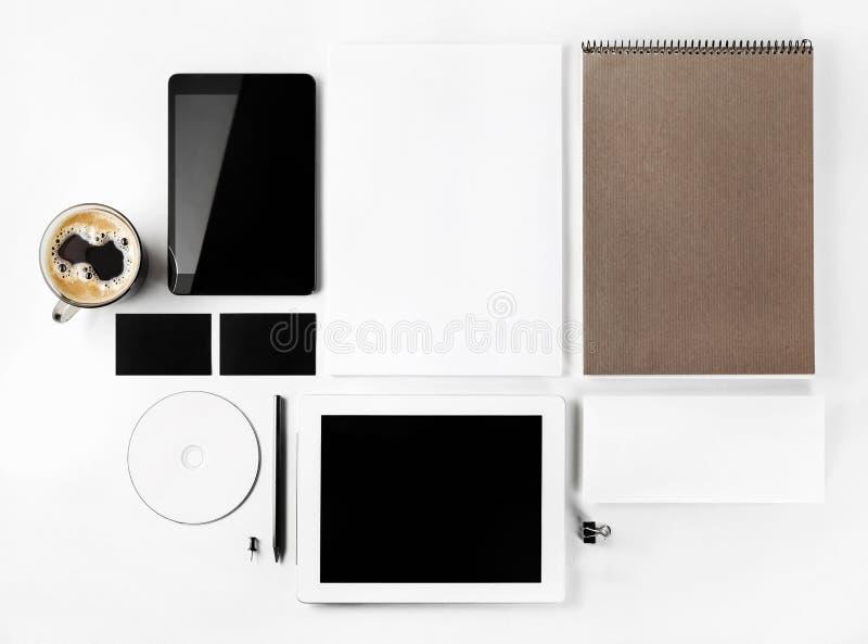 品牌身份的空白的模板 库存图片