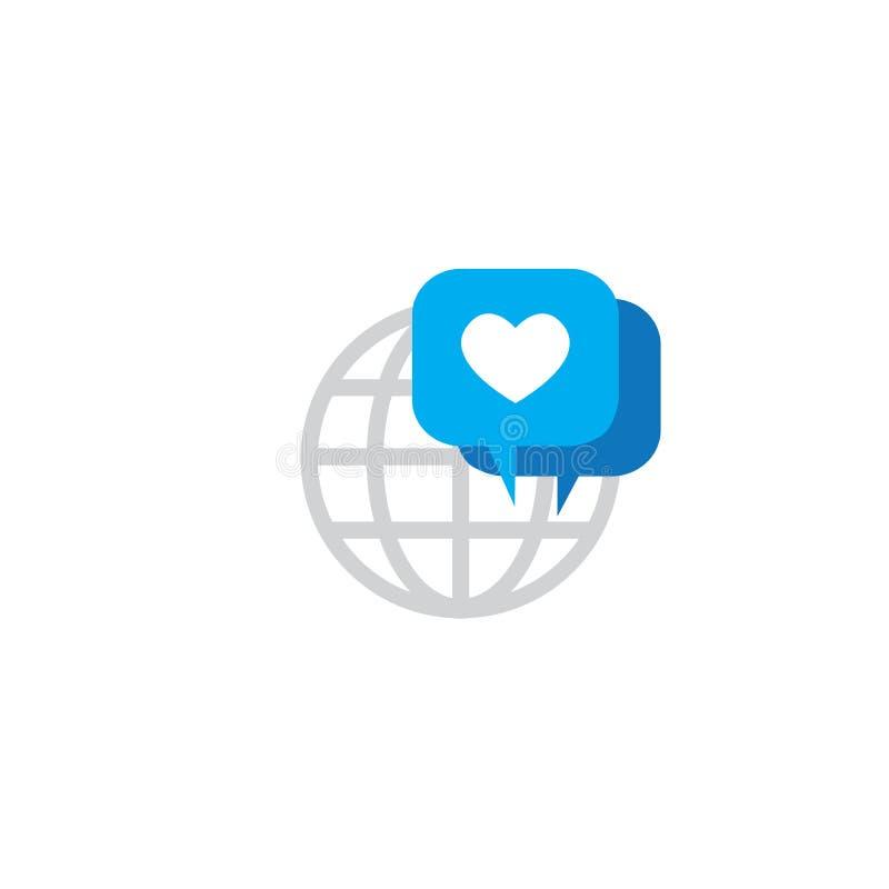 品牌Chat Speech Bubble Icon销售关于的Influencer大使 库存例证