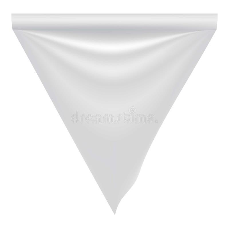 织品白色空白的旗子大模型,现实样式 皇族释放例证