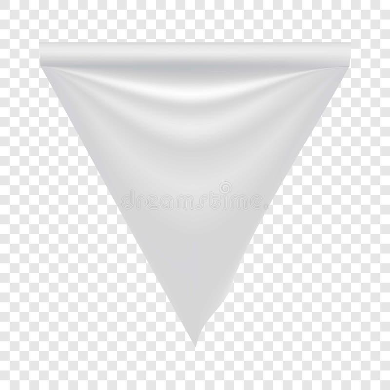 织品白色空白的旗子大模型,现实样式 向量例证