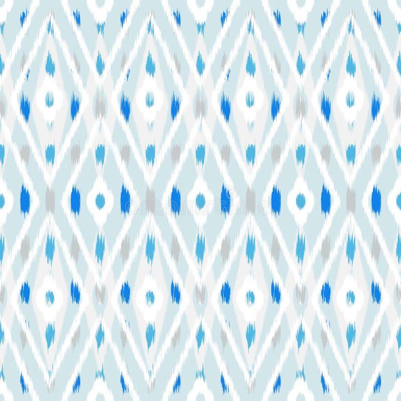 织品的Ikat无缝的样式设计 向量例证