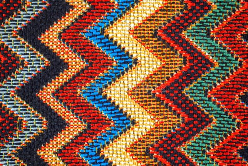 织品纹理与传统墨西哥样式的 库存照片