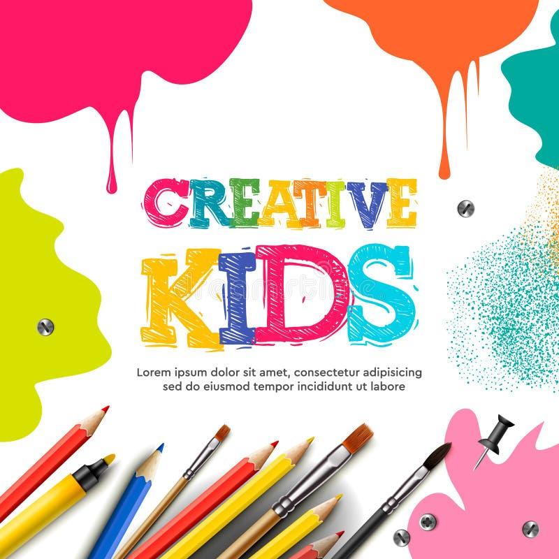 哄骗艺术工艺,教育,创造性类概念 也corel凹道例证向量 库存例证