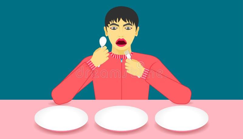 哇i推荐了 食物看起来可口 显示您的在盘的产品 美好的颜色背景 ??eps10 皇族释放例证