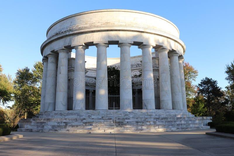 哈丁纪念品在马里,俄亥俄 沃伦G总统的纪念品 被硬化的 免版税库存图片