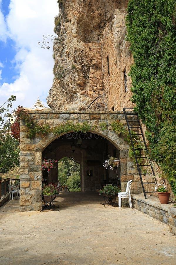 哈丽勒纪伯伦博物馆入口,黎巴嫩 免版税库存图片