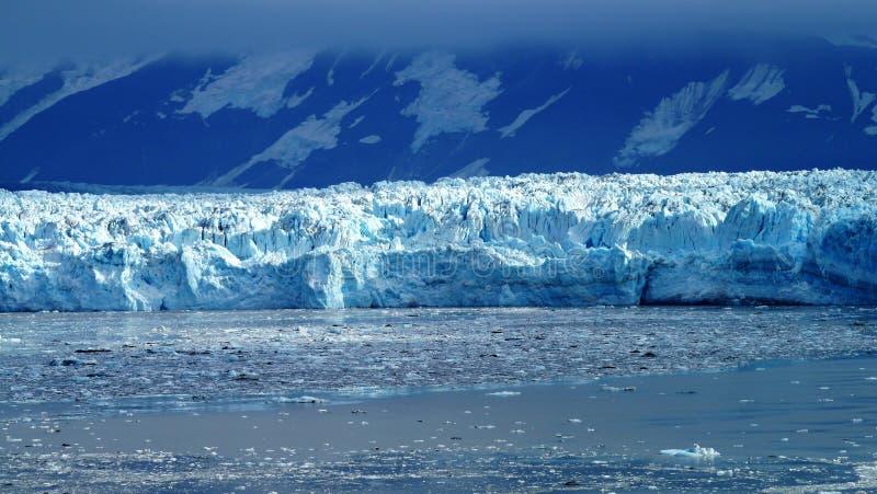 哈伯德冰川在段落里面的阿拉斯加的 库存照片