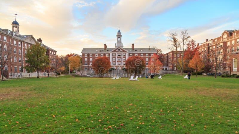 哈佛停泊霍尔 库存照片