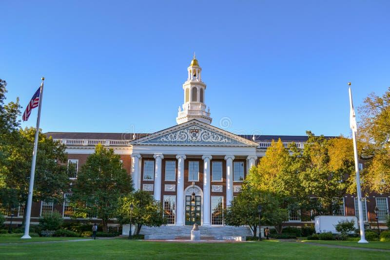 哈佛商学院的图书馆 免版税图库摄影